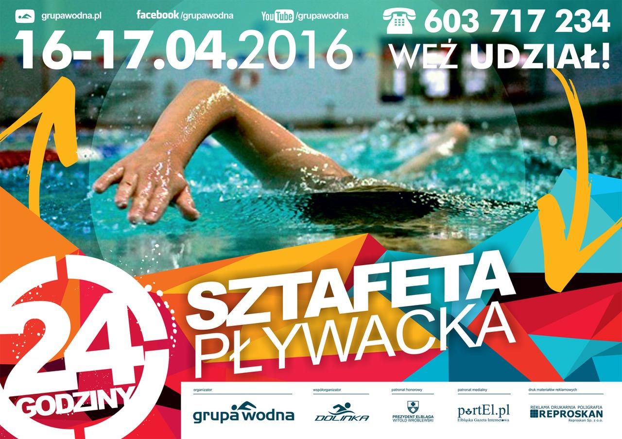 24h Sztafeta Pływacka Elbląg Grupa Wodna