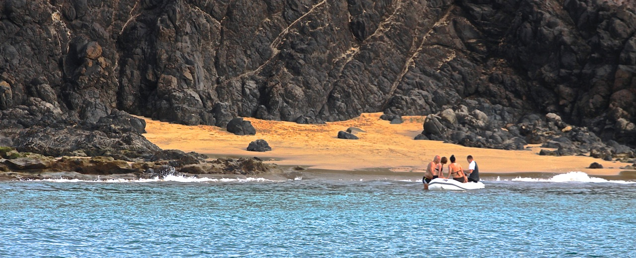 Prywatna plaża naRubikonie (Lanzarote)