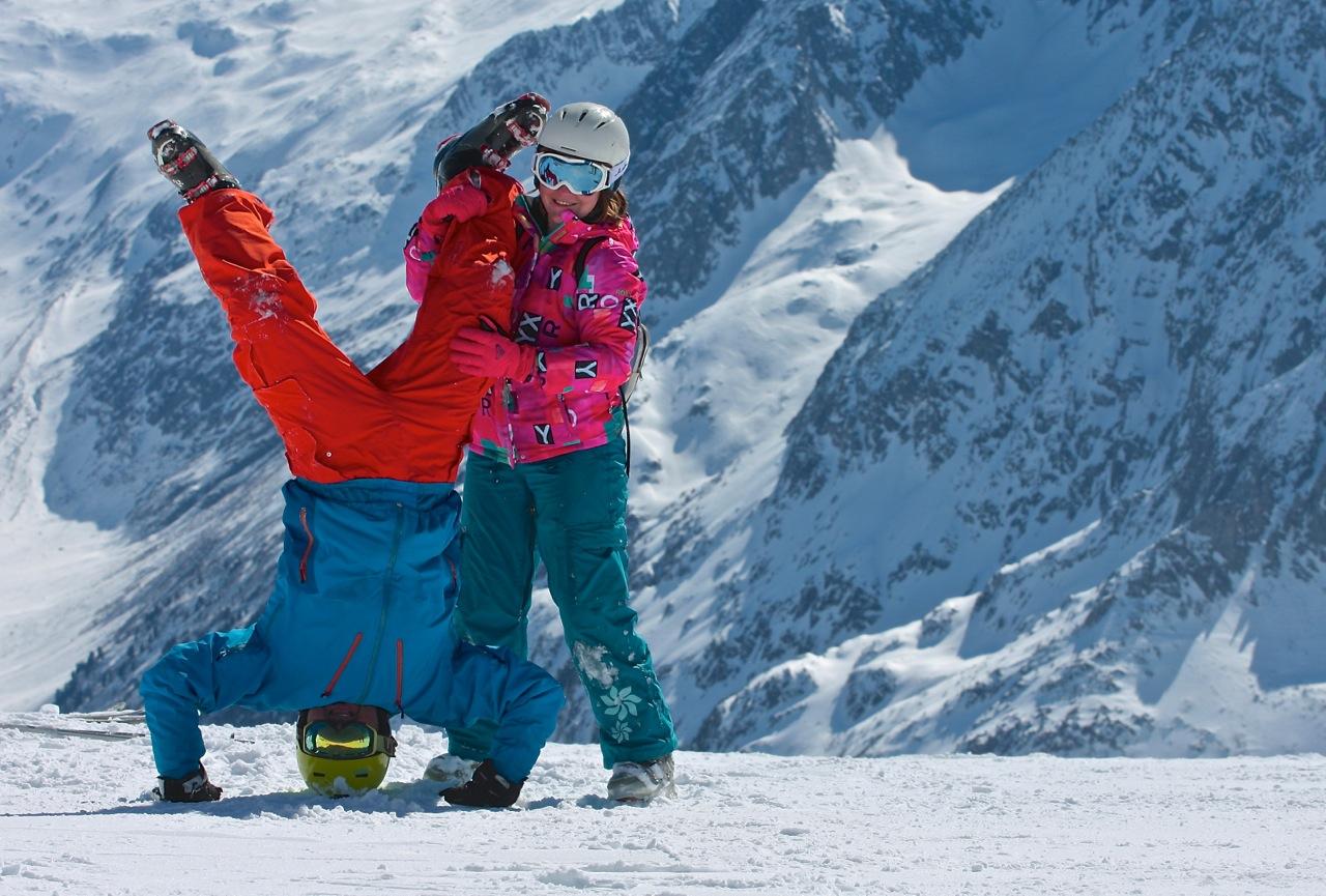 nauka jazdy nanartach grupa wodna Alpy
