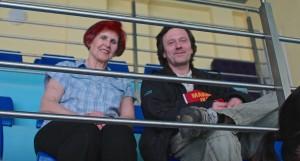 Pani Krystyna udziela wywiady Markowi Nowosadowi