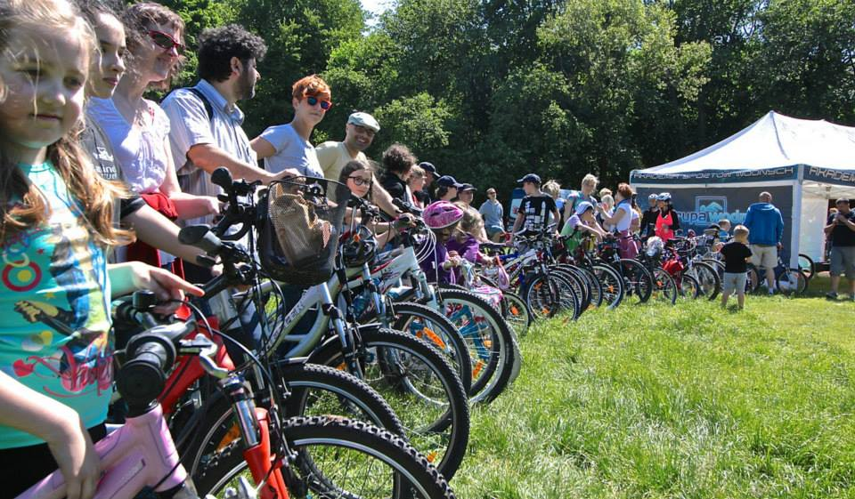 rowery grupa wodna rodzinny rajd rowerowy bażantarnia Elbląg