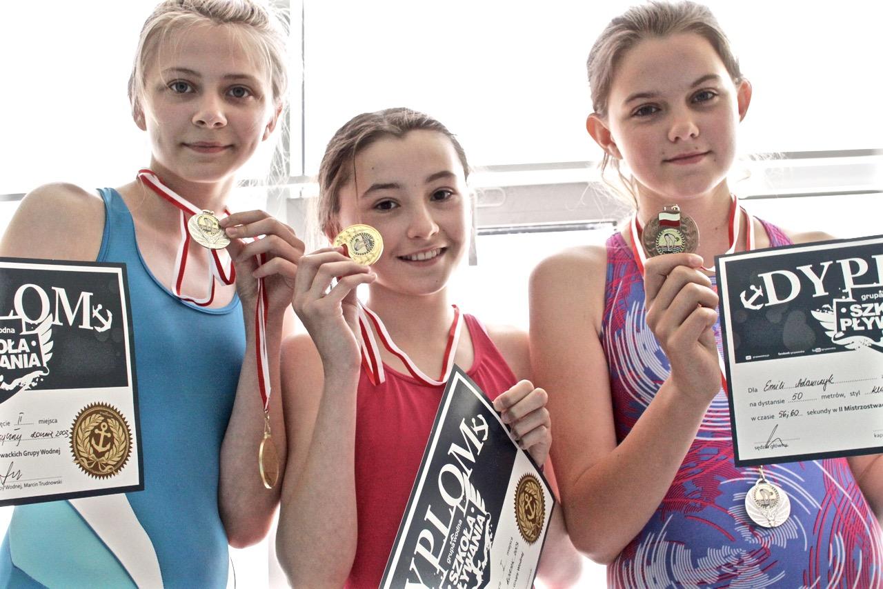 szkoła pływania Grupa Wodna Elbląg zawody pływackie
