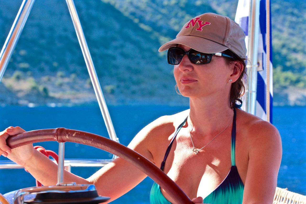 Joasia zasterem jachtu