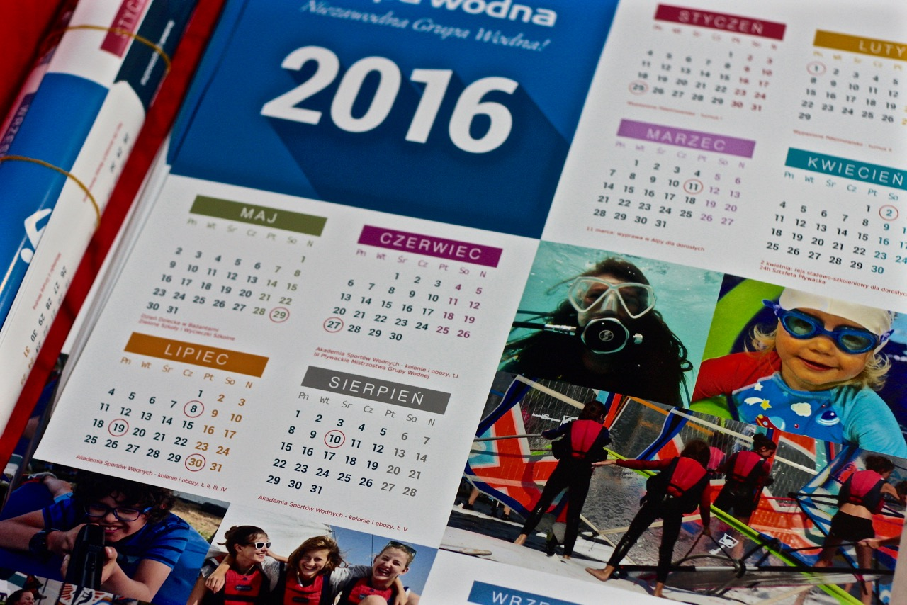 kalendarz grupy wodnej 2016