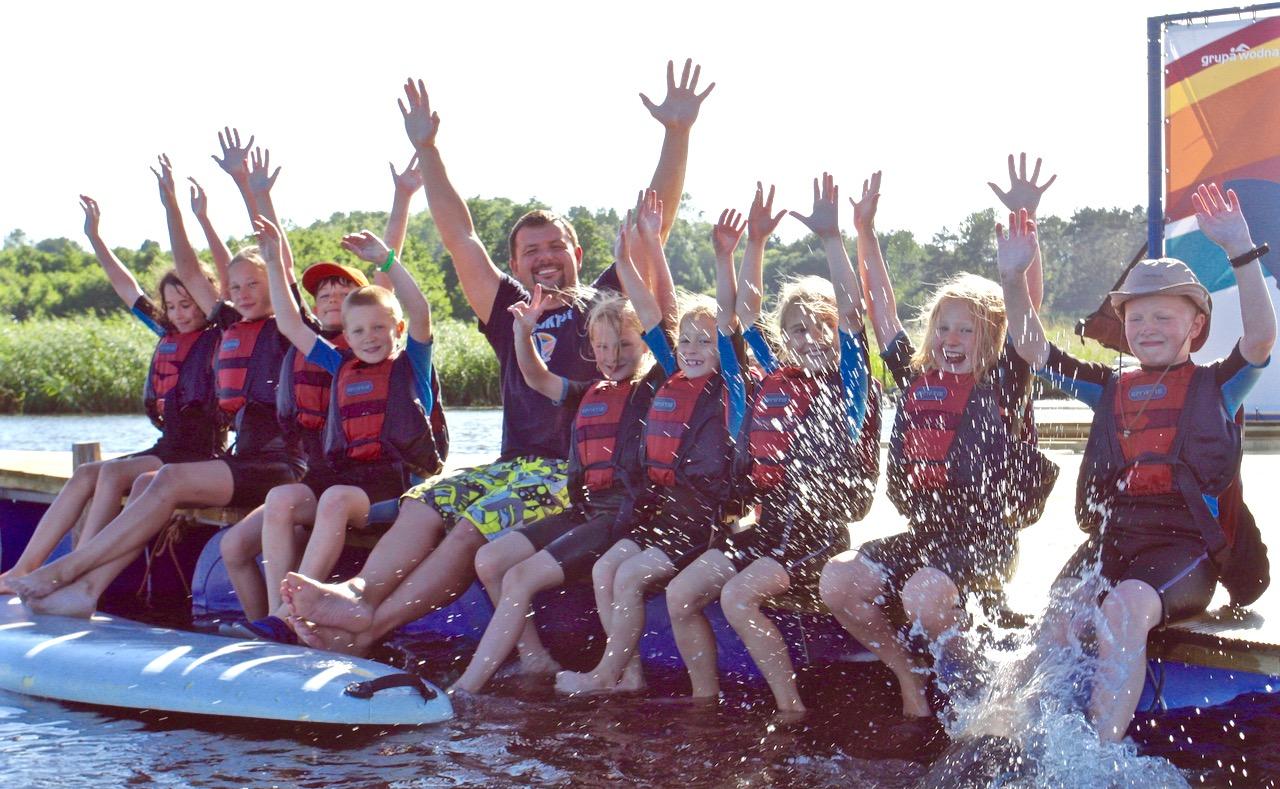 grupa wodna kolonie letnie dla dzieci imłodzieży nadmorzem Władysławowo Hel