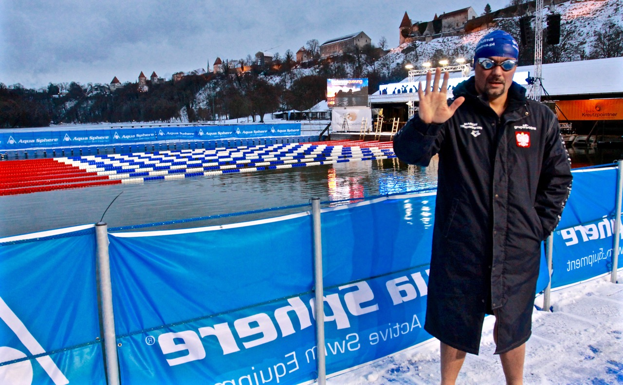 trudnowski marcin pływanie lodowe ice swimming burghausen wicemistrz świata