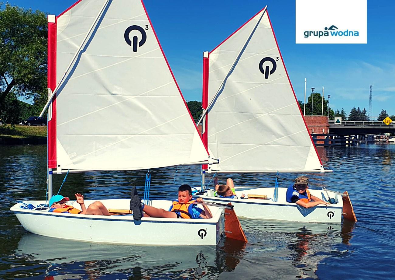 szkoła żeglowania wElblągu Optimisty Grupa Wodna