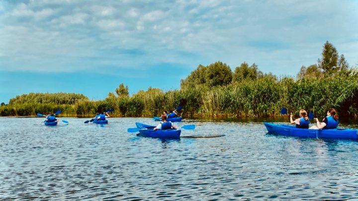 Spływ kajakowy jezioro Drużno